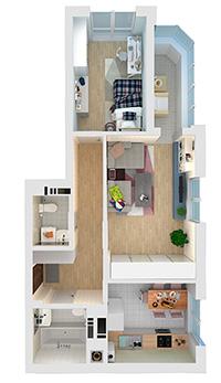 Смотреть 2к квартиры